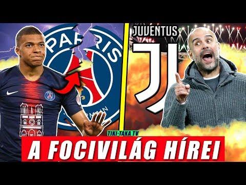 Mbappé távozni akar a PSG-től? Guardiola megegyezett a Juventusszal? | Foci Hírek