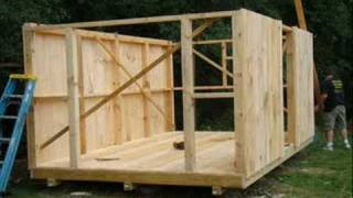 Building A Shed In Under 2 Min!