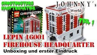 Lepin 16001 Ghostbusters Headquarter - Unboxing und erster Eindruck - Review in Deutsch-