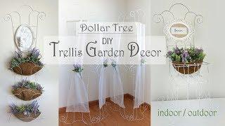 Trellis Garden Decor DIY / Dollar Tree DIY / Patio Decor