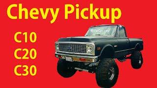 Lifted Chevy C30 4x4 Truck C10 1500 Pickup Video C/K Classic Mudder