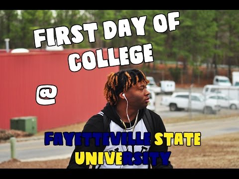 First Day Of College @Fayetteville State University