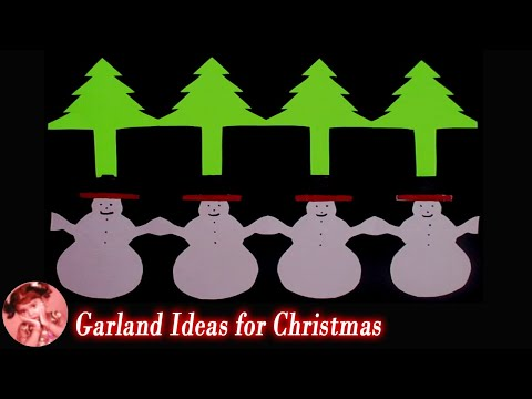 2 Easy Paper Garland Ideas for Christmas Decoration | Christmas Crafts | Christmas Decor 2018