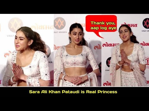 Simmba actress Sara Ali Khan Pataudi is Real Princess . check out @Lokmat Most Stylish Awards 2018