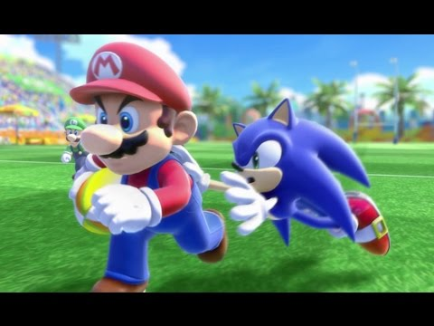 Mario & Sonic at the Rio 2016 Olympic Games - Rugby Sevens (Gameplay with All Characters)