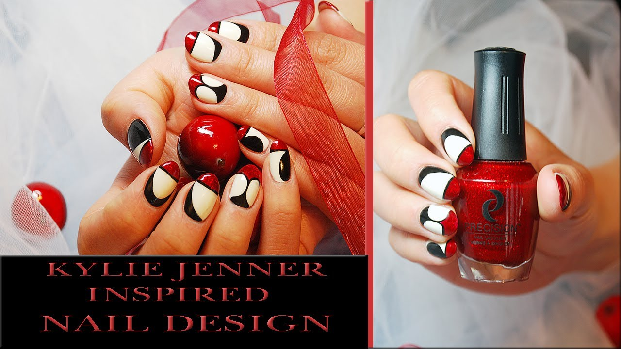 Kylie Jenner Inspired Nail Design Tutorial Nails Of Promise Youtube