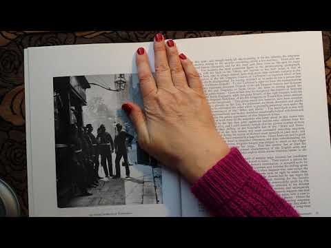 ASMR   Victorian London Old Photo Book  Some Whispered Reading & Nice Page Turning Sounds