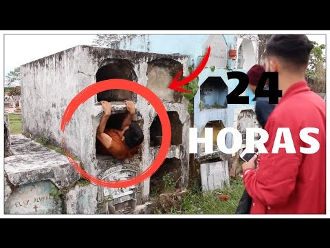 24 HORAS en un CEMENTERIO FUNCIONA 👻  (ME ASUSTARON😰 ) Jordan Rosas