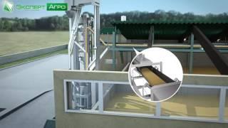 видео: Автоматизированный комплекс хранения зерна - Склад напольного хранения зерна