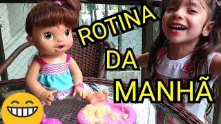 BABY ALIVE COMILONA ROTINA DA MANHÃ  - ANNY E EU