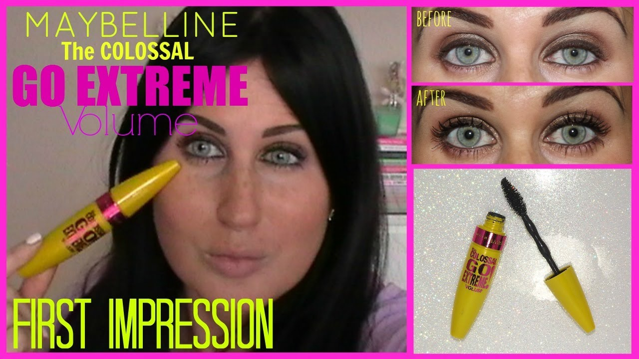 d67a7c1af85 Maybelline The Colossal Go Extreme Volume | First Impression - YouTube