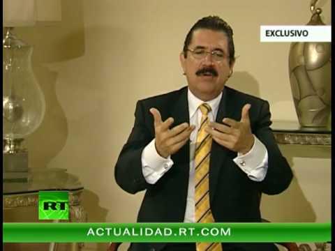 Entrevista con José Manuel Zelaya Rosales, presidente de Honduras en el exilio