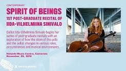Spirit of beings – 1st post-graduate recital of Iida-Vilhelmiina Sinivalo