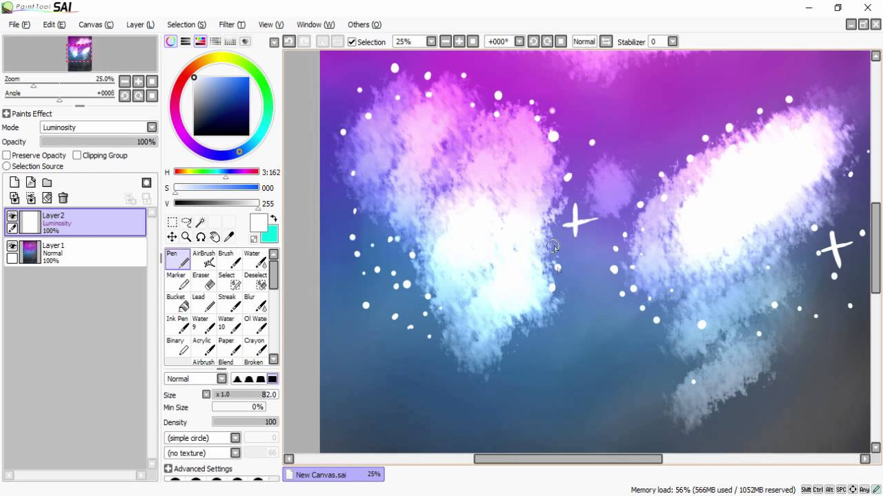 How to Paint A Galaxy(Tutorial) - YouTube