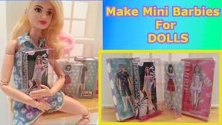DIY How to Make BOXED BARBIE DOLLS FOR DOLLS Tutorial-Doll Crafts Barbie, Monster High, Frozen, EAH