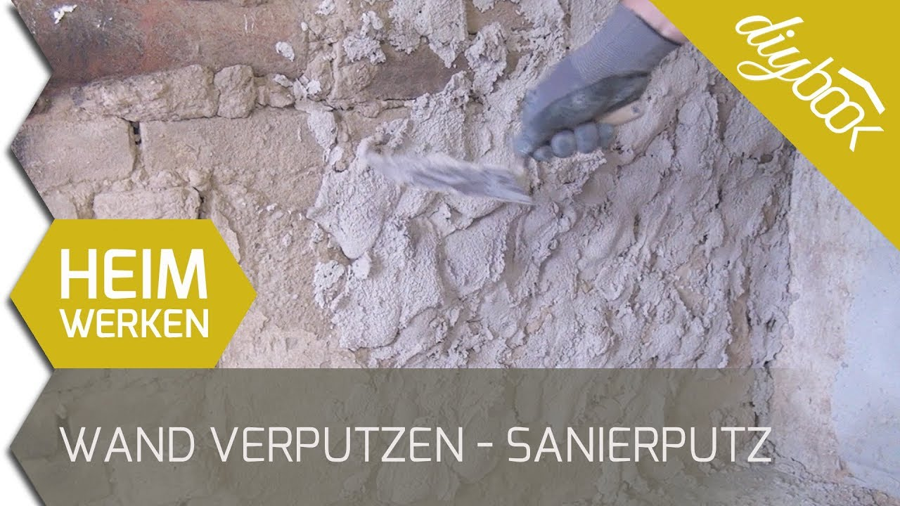 Wand verputzen - Sanierputz im Einsatz - YouTube