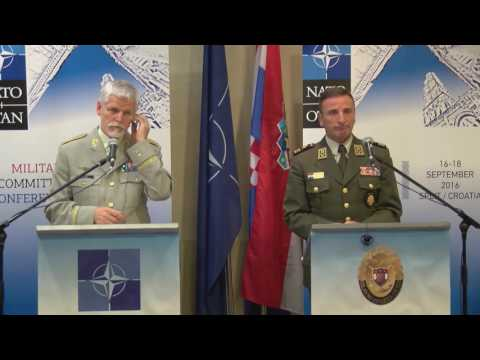 Joint Press Conference, NATO Military Committee Conference, Split, Croatia - 17 SEP 2016