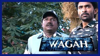 Bus burnt by protestors | Wagah Movie Scenes | Ranya Rao manages to survive