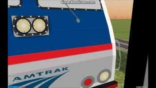 OpenBVE HD: Riding Behind Amtrak Bombardier ALP-46 (MITRAC 3000 GTO Inverters)