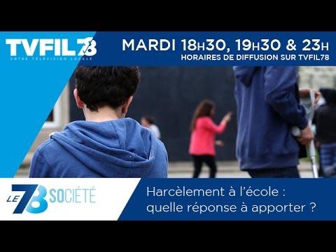 Le 7/8 Société – Harcèlement à l'école : quelles réponses  à apporter ?
