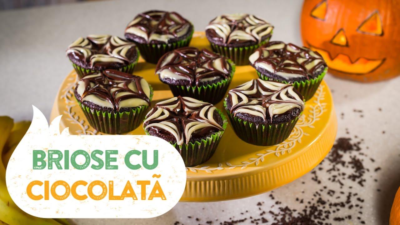 Reteta - Briose cu ciocolata pentru Halloween
