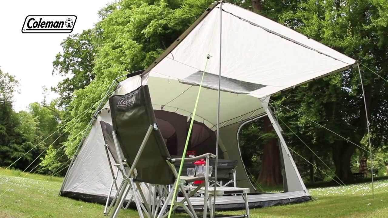 Coleman® Lakeside 4 Deluxe - Family C&ing Tent & Coleman® Lakeside 4 Deluxe - Family Camping Tent - YouTube