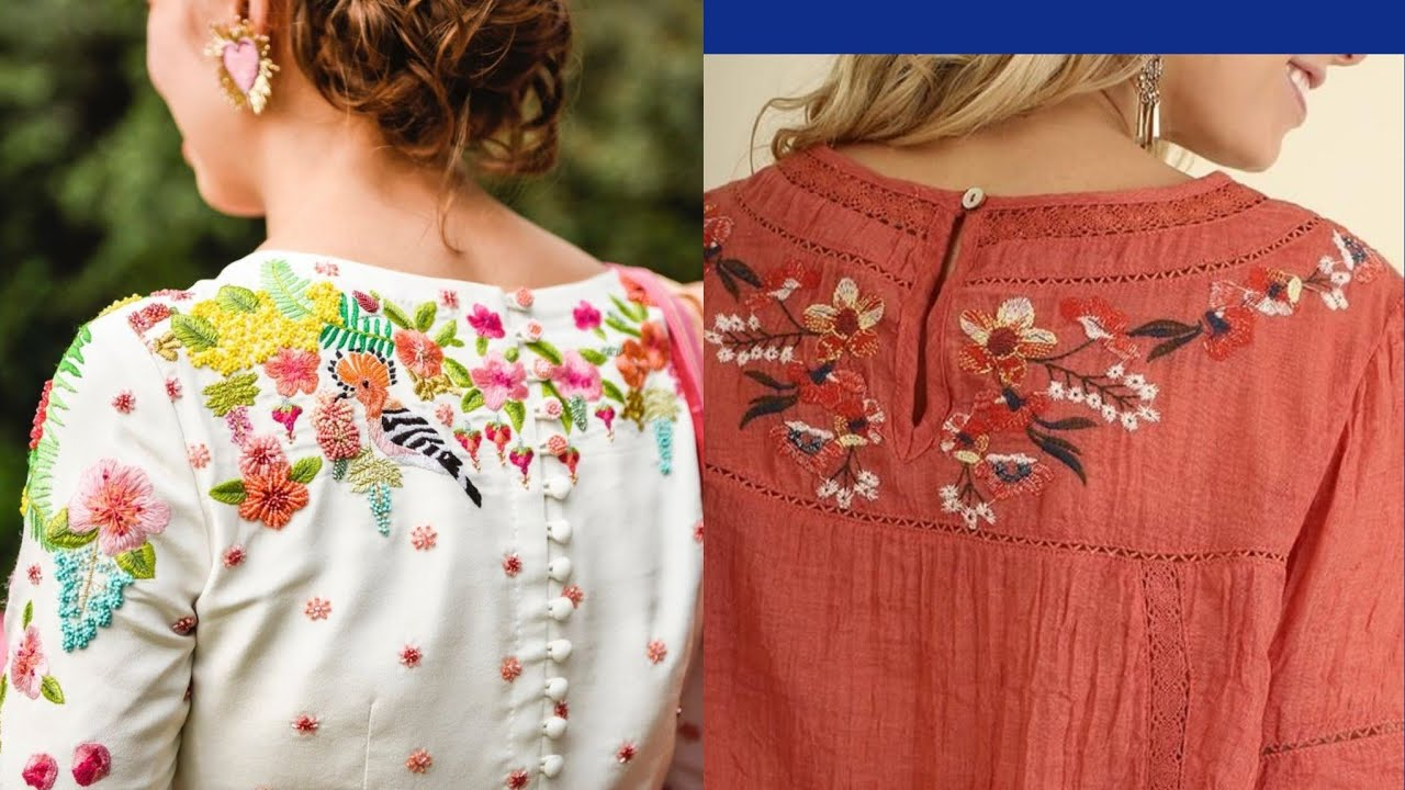 Beautiful And Latest Hand Embroidered Shirts Designs For Girls 2019