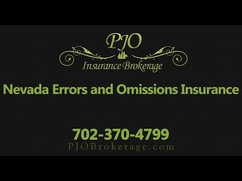 Nevada Errors and Omissions Insurance | PJO Insurance Brokerage