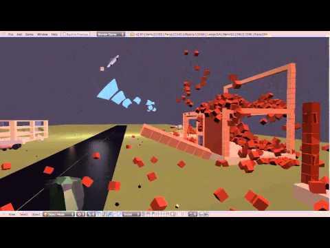 Blender Game Engine - Tornado - Animation Performance Test