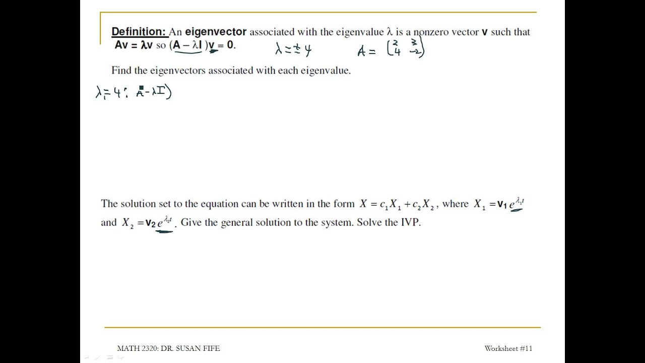 Differential Equations WS 11 #12
