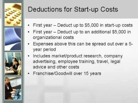 Small Business Tax Advice   Start Up Costs &amp  Education Deductions   Part 10 Of 10
