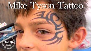 Mike Tyson Tattoo Face Paint tutorial