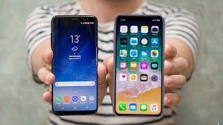 مقارنة بين ايفون اكس X وجلاكسي اس8 بلاس  +iPhone X vs Samsung S8