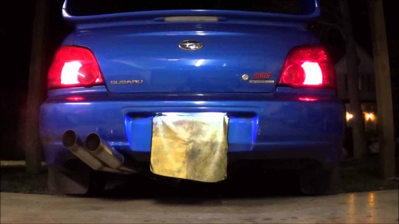 Wrx Custom Blast Pipes Catless 2 Step Youtube