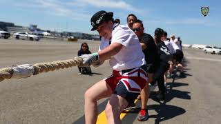 NYPD Teams-up For The JetBlue Plane Pull