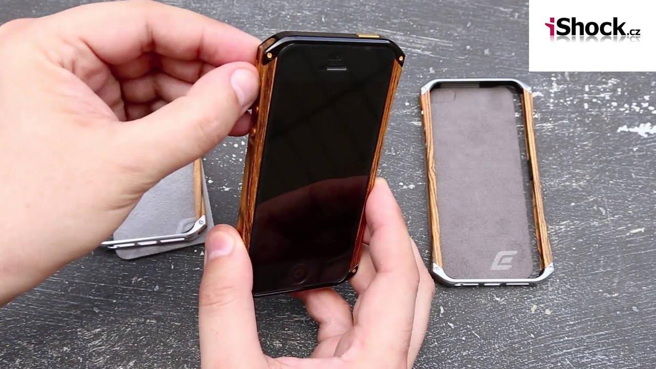 Luxusní dřevěný kryt bumper pro iPhone 5 5S - YouTube 025965257d1