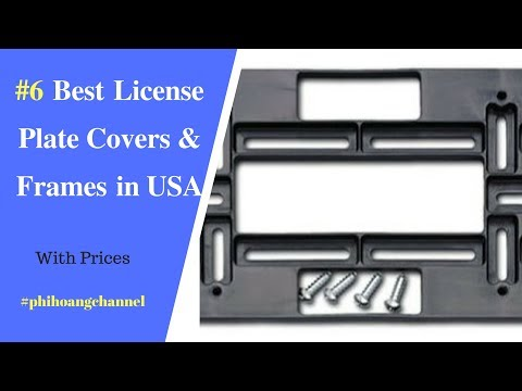 Top 6 Best License Plate Covers And Frames In USA Under $15 – Best Car Products Amazon