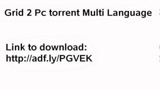 Grid 2 Pc Torrent Multi Language