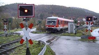 Spoorwegovergang Buchenau (D) // Railroad crossing // Bahnübergang