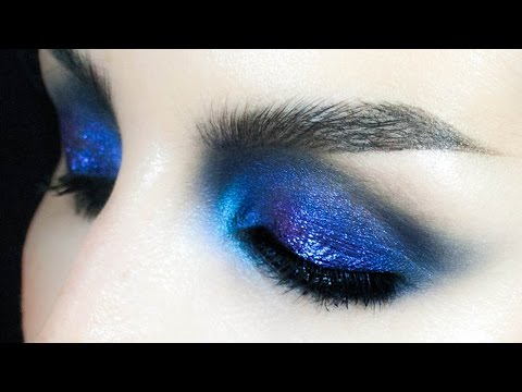 Intense Ultra Violet Blue Winged Out Smokey Eyes Makeup 🖤 Speedtorial