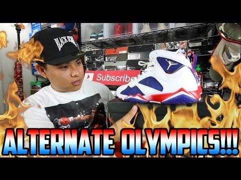 c4f434e7521168 AIR JORDAN  ALTERNATE OLYMPIC  7 REVIEW + ON FEET!!! - YouTube