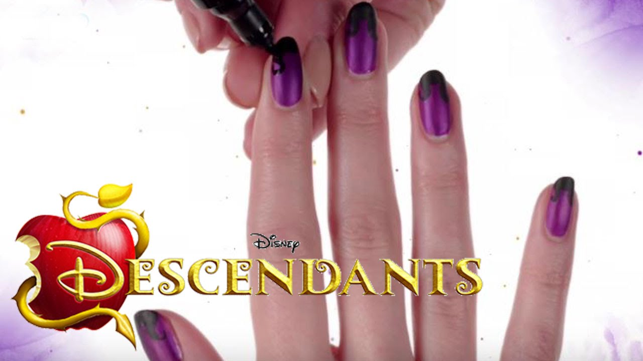 Disney\'s Nail Art - Maleficent-Nageldesign von The Descendants ...