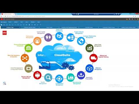 Infor CloudSuite ERP Overview