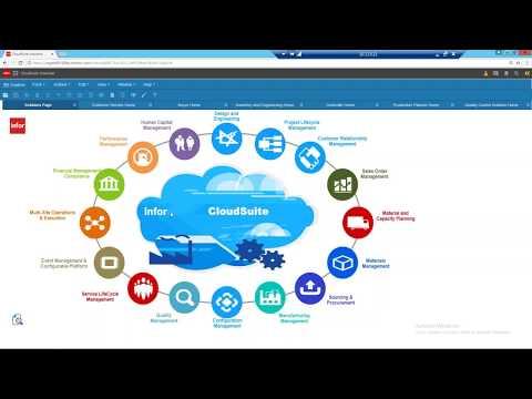 Infor CloudSuite ERP Overview