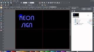 كيفية إنشاء النيون تأثير النص في برنامج Xara المنتجات