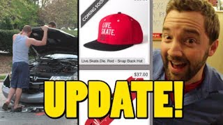 My Car Crash Recorded! Revive Skateboards Hats!