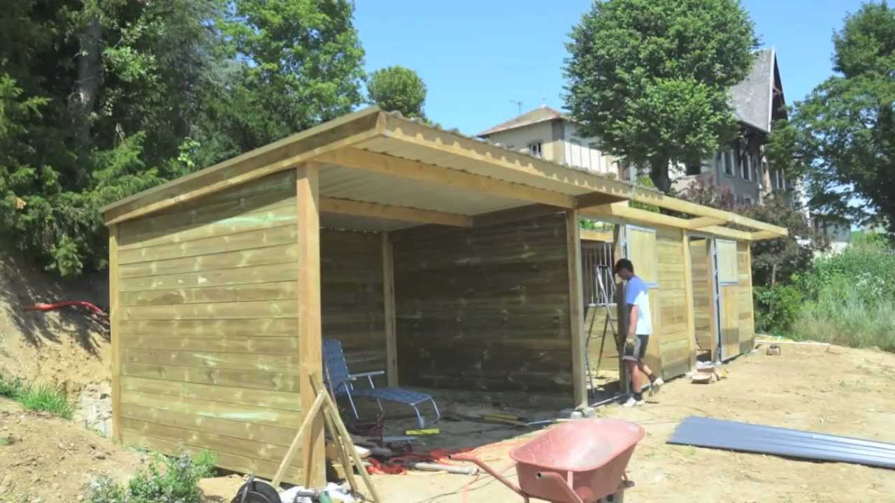 Building horse stables time lapse youtube for Build your own barn online