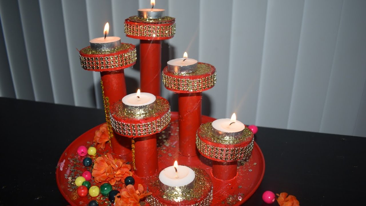 diy candle holder at home diy christmas candle decoration centerpiece ideas for christmas - Christmas Candle Decorations
