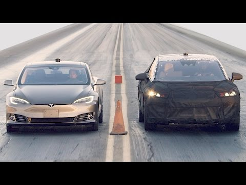 Thumbnail: Tesla Model S P100D vs. Faraday Future FF 91 vs. Bentley Bentayga vs. Ferrari 488 GTB