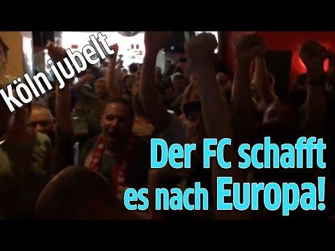 1. FC Köln gegen Mainz 05: Jubel auf Zülpicher Straße im MTC